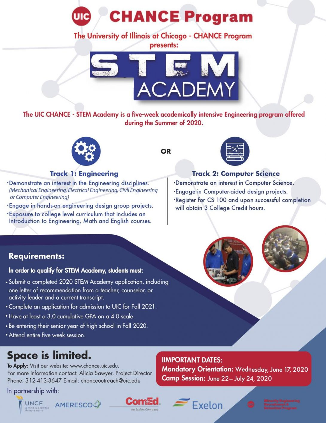 Uic Summer 2020.Stem Academy Chance Program University Of Illinois At